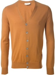 Alexander Mcqueen V Neck Cardigan Yellow And Orange