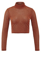Glamorous Long Sleeved Top Rust Bronze