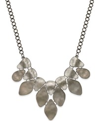 Styleandco. Style And Co. Hematite Tone Pebble Statement Necklace Only Ay Macy's