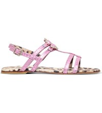 Roberto Cavalli Snake Embossed Leather Sandals 6Months 2Years Pink