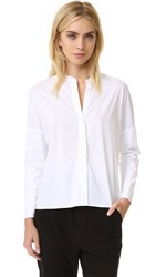 James Perse Double Layer Long Sleeve Shirt White