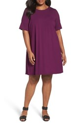 Eileen Fisher Plus Size Women's Stretch Jersey Shift Dress Red