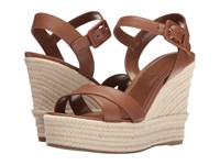 Sergio Rossi Maui Baobab Leather Women's Wedge Shoes Brown