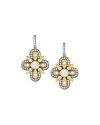 Freida Rothman Embellished Clover Drop Earrings No Color