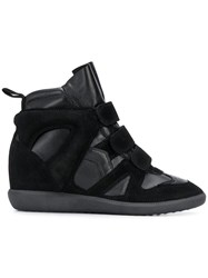 Isabel Marant Buckee Wedge Sneakers Black