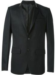 Givenchy Zipped Collar Blazer Black