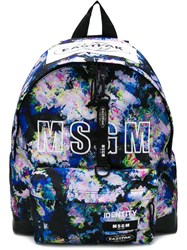 Msgm Logo Backpack Pink And Purple