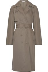 Tomas Maier Wool Gabardine Trench Coat Anthracite