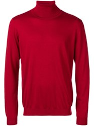 Laneus Cashmere Turtleneck Top Red