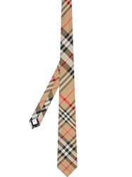 Burberry Classic Cut Check Silk Tie Brown