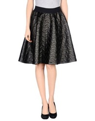 Mariuccia Knee Length Skirts Black