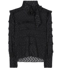 Isabel Marant Alba Fil Coupe Blouse Black
