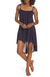Muche Et Muchette Olivia Cover Up Dress Navy Burgundy