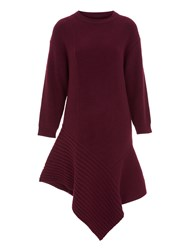 Eudon Choi Lucien Dress Wine Red