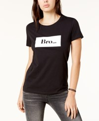 Chrldr Cotton Bro Graphic T Shirt Black