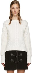 Carven Beige Cable Knit Sweater