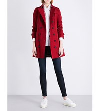 Burberry Sandringham Cotton Trench Coat Parade Red