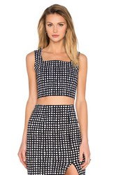 Lucy Paris Boxy Pattern Top Black And White