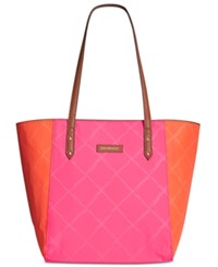 Vera Bradley Preppy Poly Ella Tote Rose Orange