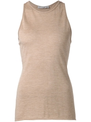 Dusan Knitted Tank Top Nude And Neutrals