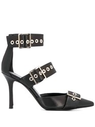 Marc Ellis Buckled Strap Pumps Black