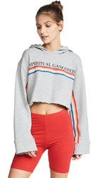 Spiritual Gangster Rainbow Dancin The Night Away Hoodie Medium Heather Grey