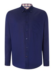 T.M.Lewin Plain Oxford Button Down Shirt Navy