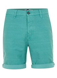 Topman Mint Pattern Chino Shorts Green