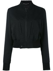 Y's Cropped Bomber Jacket Black