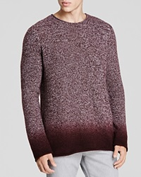 Vince Marled Cashmere Dip Dye Sweater Merlot Combo