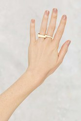 Nasty Gal Life On Mars Two Finger Ring