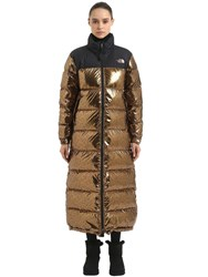 The North Face Nuptse Duster Long Down Jacket Metallic Copper