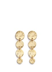Kenneth Jay Lane Graduating Gold Plated Coin Charm Drop Earrings Metallic