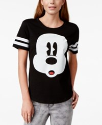 Hybrid Juniors' Disney Mickey Mouse Striped Graphic T Shirt
