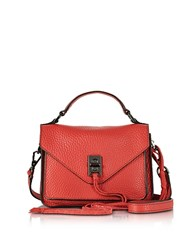 Rebecca Minkoff Blood Orange Leather Mini Darren Messenger Bag Red