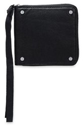 Mcq By Alexander Mcqueen Textured Leather Wallet Black