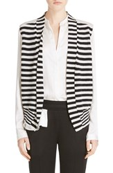 Women's Haider Ackermann Stripe Knit And Silk Vest