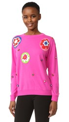 Moschino Long Sleeve Sweater Violet