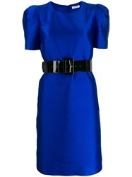 P.A.R.O.S.H. Structured Party Dress Blue