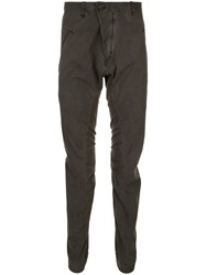 Masnada Slim Fit Gathered Trousers Green