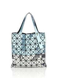 Issey Miyake Platinum Small Two Tone Tote Blue Silver