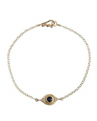 Jamie Wolf Evil Eye Bracelet With Sapphire And Diamonds