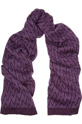 Missoni Metallic Chevron Knit Wool Blend Scarf
