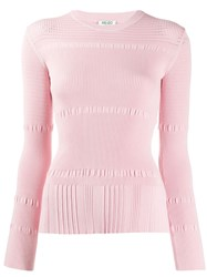 Kenzo Ribbed Knit Sweater Pink
