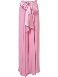 Tome 'Charmeuse Long Bow Front' Skirt Pink Purple