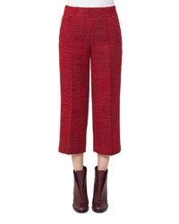 Akris Punto Miami Tweed Culotte Pants Wine