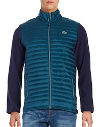 Lacoste Contrast Quilted Jacket Papyrus