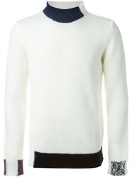 Raf Simons Contrasting Trims Sweater White