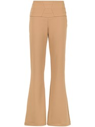 Olympiah Sisa Flared Trousers Nude And Neutrals