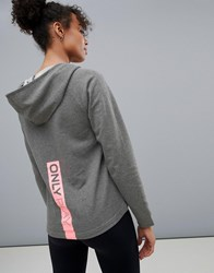 Only Play Sweat Hoodie Grey